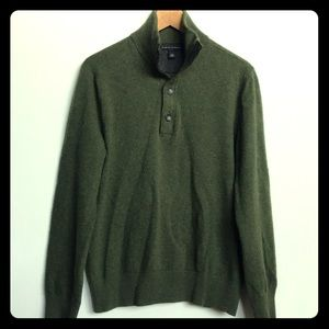 100% Merino Wool Zip Pullover Sweater